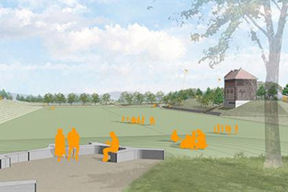 Fisher Hill Reservoir Park open space drawing